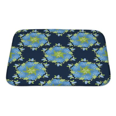 Simple Floral Vintage Bath Rug Size: Small