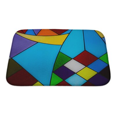 Art Hard Multicolored Glass Mosaic Bath Rug Size: Small