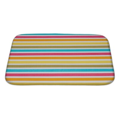 Picnic Close Up of Striped Colour Bath Rug Size: Large