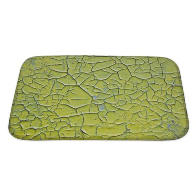Wood Surface Covered with Cracked Paint Bath Rug Size: Large