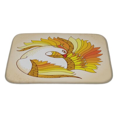 Birds Mythological Firebird Bath Rug Size: Large