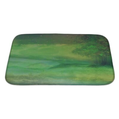 Art Alpha Night Forest in Mountain Bath Rug Size: Large