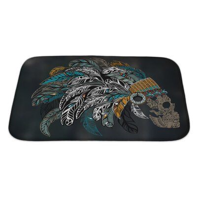 Danger Ornamental�Skull�in�an�Indian�Headdress�Bath�Rug Size: Large