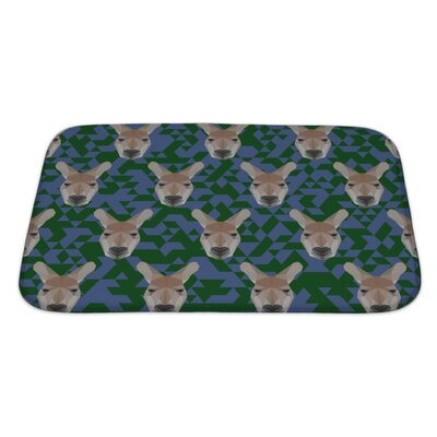 Animals Polygonal Kangaroo Bath Rug Size: Large