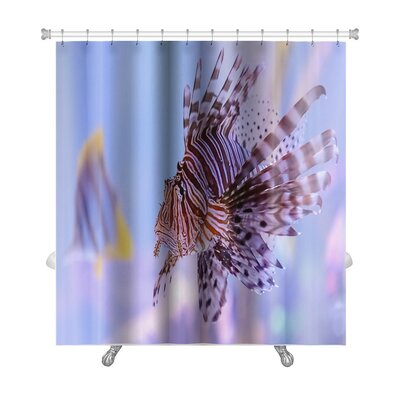 Fish Pterois Lionfish Premium Shower Curtain