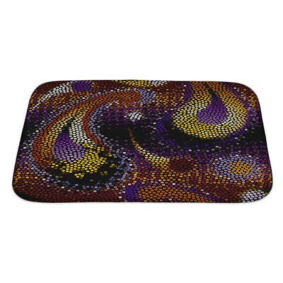 Gamma Of Circles, Painted in Paisley Bath Rug Size: Large