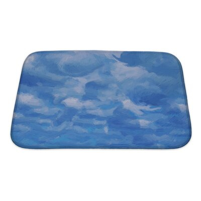 Nature Sky and Clouds in Experssionism Oil Painting Style Bath Rug Size: Small