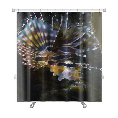 Fish Poisonous Lionfish in the Similan Islands Premium Shower Curtain