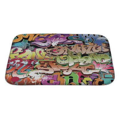 Art Beta Graffiti Urban Bath Rug Size: Large