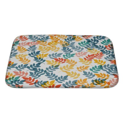 Gecko Leaf Pattern Bath Rug Size: Large