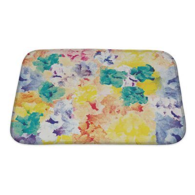 Art Primo Floral Watercolor Abstract Bath Rug Size: Small