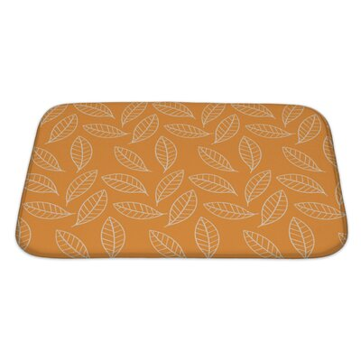 Slide Stylized Leaf Bath Rug Size: Large