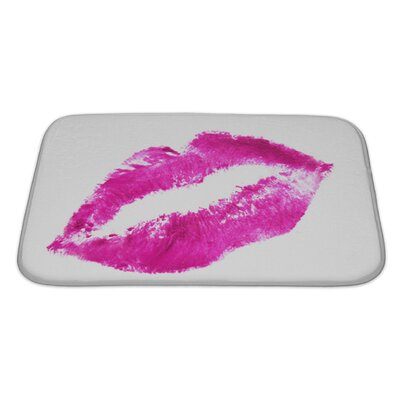 Human Touch Heart-Shaped Lips Bath Rug Size: Large
