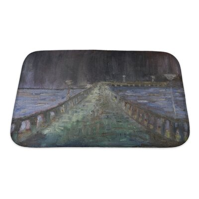 Art Alpha Night Rain in the Sea Resort Town Palanga Bath Rug Size: Small