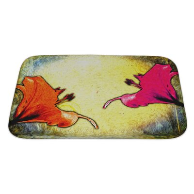 Flowers Painting Digitally Mastered Bath Rug Size: Small