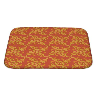 Bravo Plant Motifs in Retro Style Bath Rug Size: Large