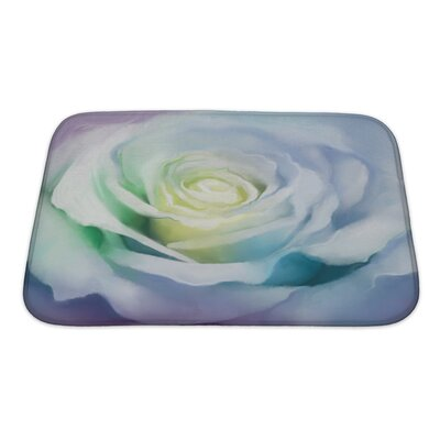 Flowers Close Up of Rose Petals Bath Rug Size: Small