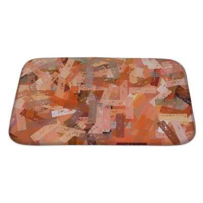 Art Beta Abstract Chalk Strokes Pattern Digitally Created Bath Rug Size: Large