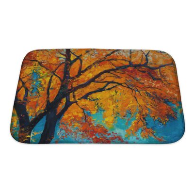 Nature Beautiful Autumn Tree Bath Rug Size: Small