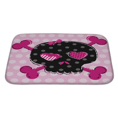Danger Cute Aggressive Girlish Skull Bath Rug Size: Large