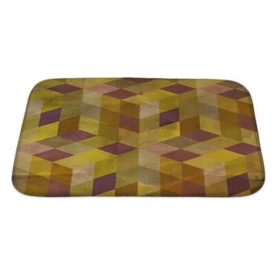 Delta Vintage Geometric Bath Rug Size: Large, Color: Purple/Yellow