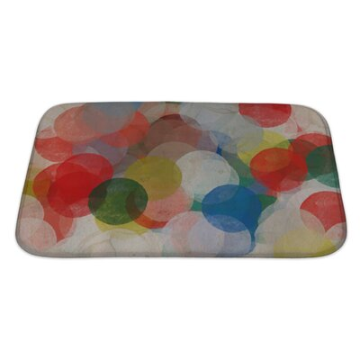 Art Beta Abstract Paint Smudged Circles Colorful Grungy Bath Rug Size: Large