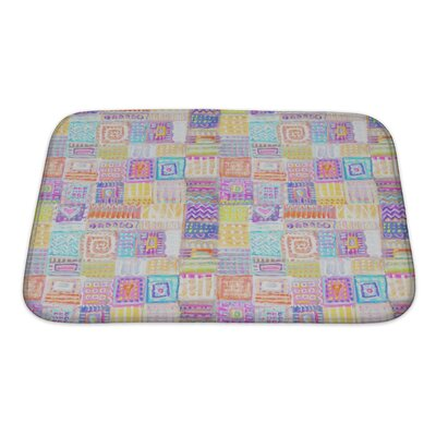 Primo Colorful Ethnic Bath Rug Size: Small