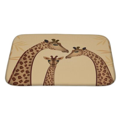 Animals Giraffes Family Bath Rug Size: Large