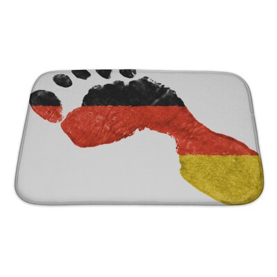 Human Touch German Flag Painted in a Shape of Footprint Bath Rug Size: Large