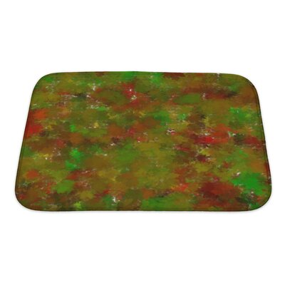 Art Beta Abstract-Impression with Autumn Tints Bath Rug Size: Small
