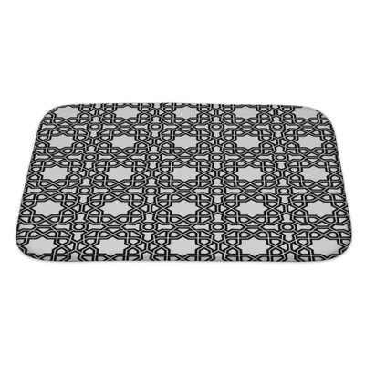 Creek Geometric Ornament with Fine Elements Bath Rug Size: Large
