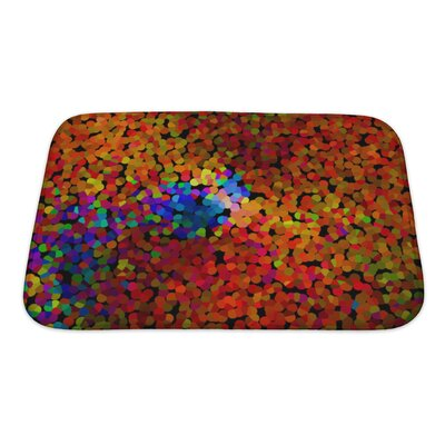 Art Alpha Abstract Blurred Effect, Bright Colors Rainbow Gradient Bath Rug Size: Small