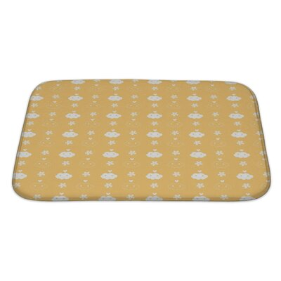 Alpha Beautiful Flowerand Cloud Pattern Bath Rug Size: Large