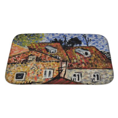 Art Alpha Painting Bath Rug Size: Large