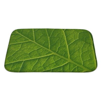 Leaves Abstract Leaf Pattern Bath Rug Size: Large