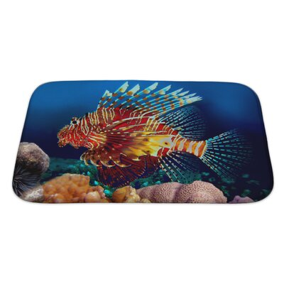 Fish Lionfish Bath Rug Size: Large