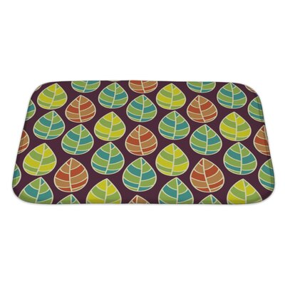 Leaves Beautiful Leaf Pattern Bath Rug Size: Large