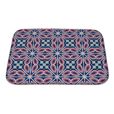 Simple Ethnic Kaleidoscope Bath Rug Size: Small