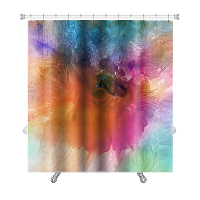Art Primo Acrylic and Watercolor Painted Shower Curtain