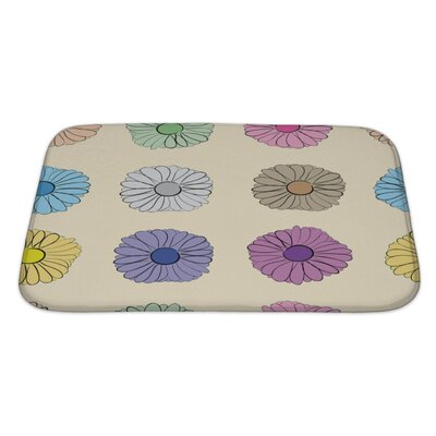 Flowers Flowers Camomiles on a Light Bath Rug Size: Large