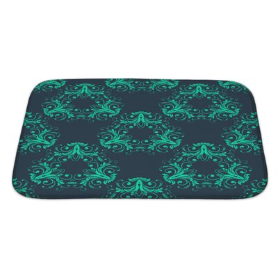 Simple Abstract Vintage Damask Pattern Bath Rug Size: Large