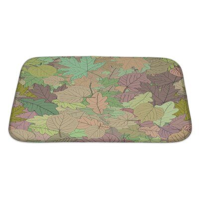 Leaves Leaves Stylized Leaf Pattern Bath Rug Size: Large