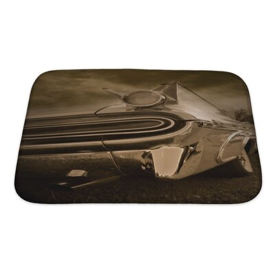 Cars Tail End of Classic Car Tone Bath Rug Size: Small