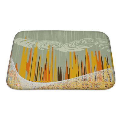 Art Beta Abstract with Industrial Landscapes Bath Rug Size: Small