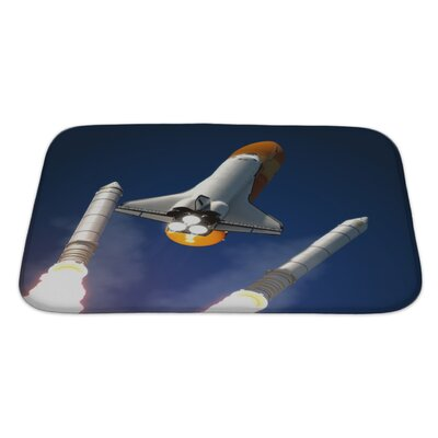 Aircraft Solid Rocket Buster Detached Bath Rug Size: Large