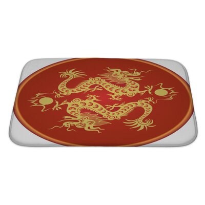 Gecko Traditional Chinese Dragon Art Symbol Bath Rug Size: Large