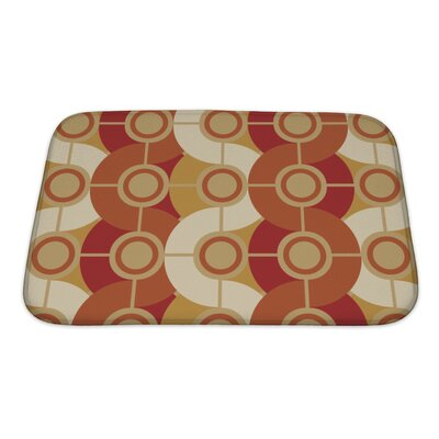 Beta Circle Retro Abstract Bath Rug Size: Small