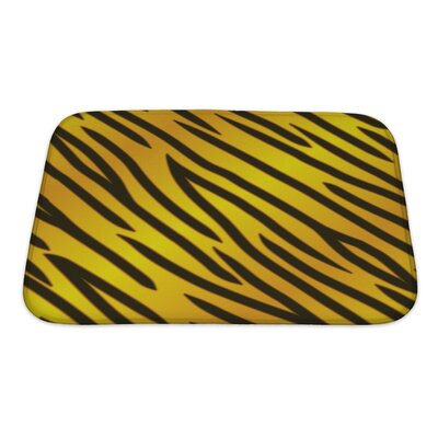 Gamma Tiger Striped Bath Rug Size: Small