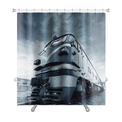 Vintage Abandoned Train Out of Years of Rusting Premium Shower Curtain