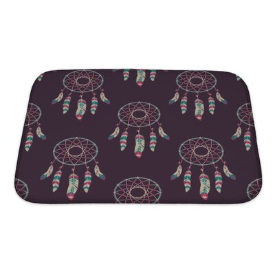 Tribal with Dream Catchers Bath Rug Size: Small